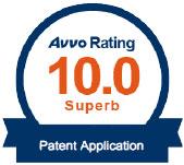 AVVO 10 rating Patent Application Attorney